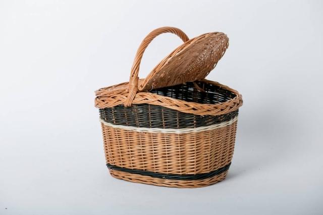 Kosz wiklinowy piknik