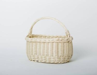 White wicker basket