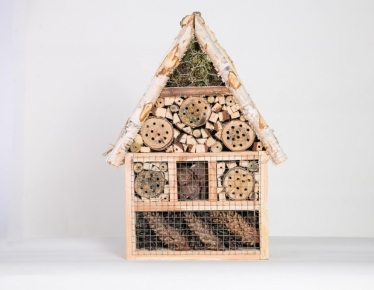 Wooden insect house