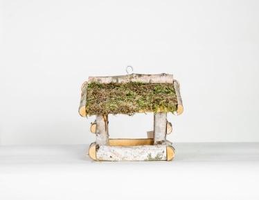 Birch bird house